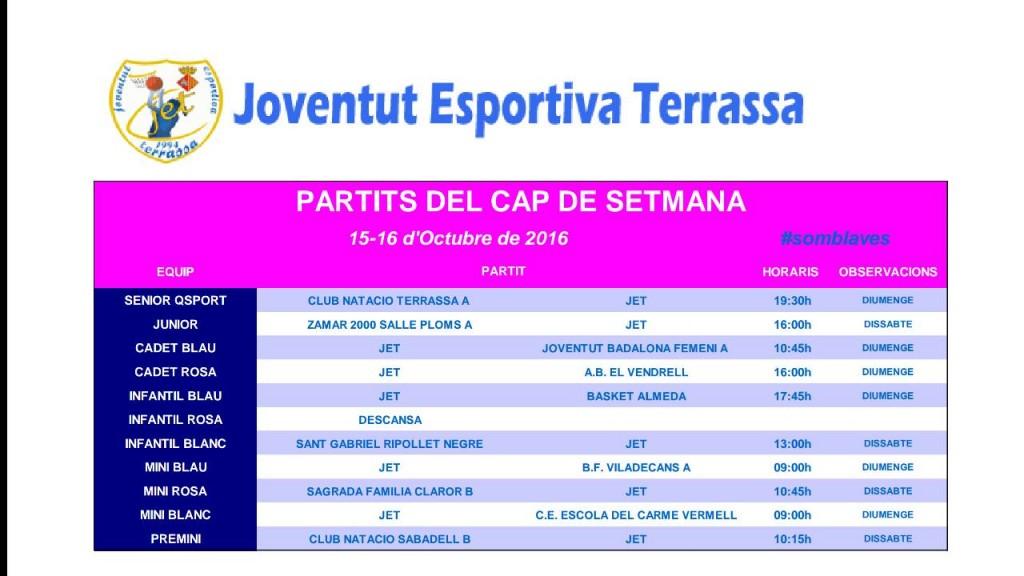 JETERRASSA_ RESULTATS SETMANA