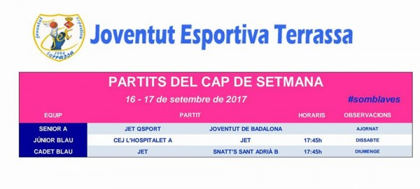JET_TERRASSA PARTITS SETMANA 16-17 SETEMBRE